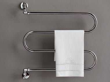 Chrome wall-mounted towel warmer BRENT 6