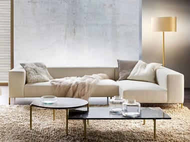 Sectional fabric sofa with chaise longue BRERA | Sectional sofa
