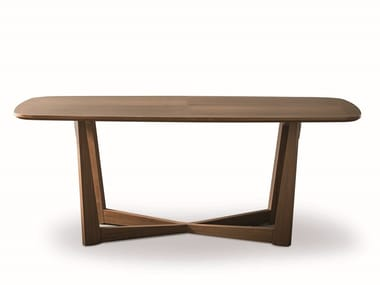 Rectangular walnut table BRERA