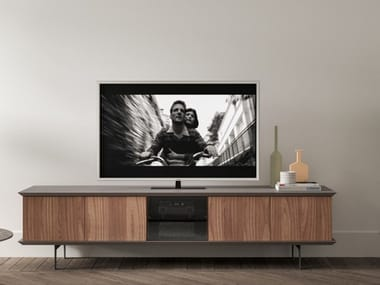 Wood and glass sideboard BRERA TV