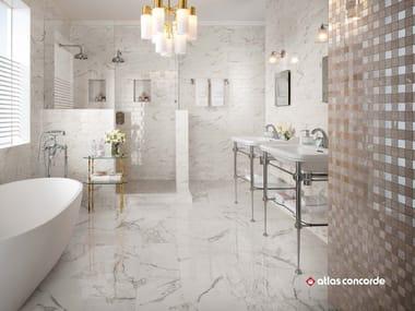 Rivestimento in ceramica a pasta bianca effetto marmo BRICK ATELIER MARVEL