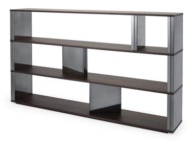 Sectional wood veneer shelving unit BRICK