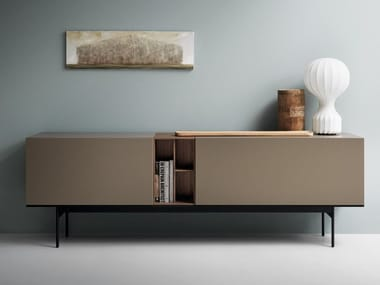Modular lacquered wooden sideboard BRICK
