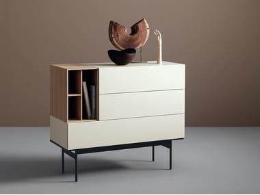 Modular lacquered wooden sideboard BRICK | Modular sideboard