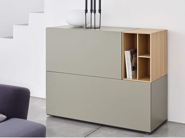 Madia componibile laccata in legno con cassetti BRICK | Madia con cassetti
