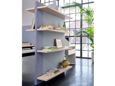 Acoustic bookcases BRIDGE | Office shelving