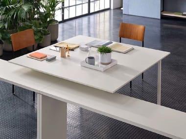 Square meeting table BRIDGE | Square meeting table