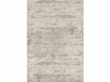 Solid-color rectangular viscose rug BRINA