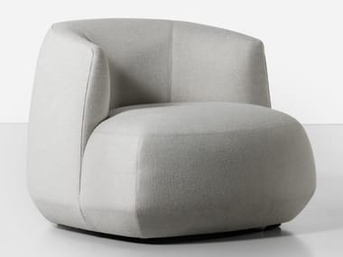 Fabric armchair with removable cover BRIONI UP | Armchair