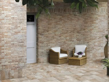Porcelain stoneware wall/floor tiles with brick effect BRISTOL