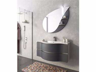 Mobile lavabo laccato sospeso con cassetti BROADWAY B14