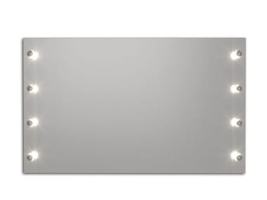 Wall-mounted mirror with integrated lighting BROADWAY S