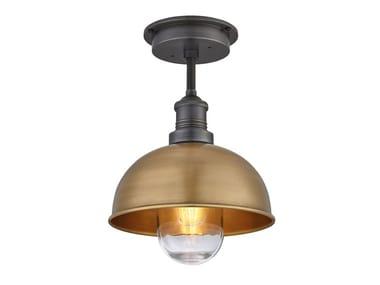 Lampada da soffitto per esterno in ottone BROOKLYN DOME | Lampada da soffitto
