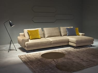 Sectional sofa with chaise longue BROOKLYN | Sofa with chaise longue