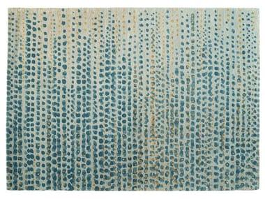 Patterned handmade rectangular rug BRUME
