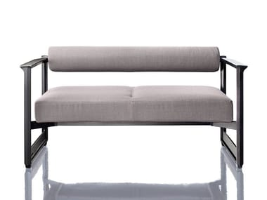 2 seater fabric sofa with removable cover BRUT | 2 seater sofa