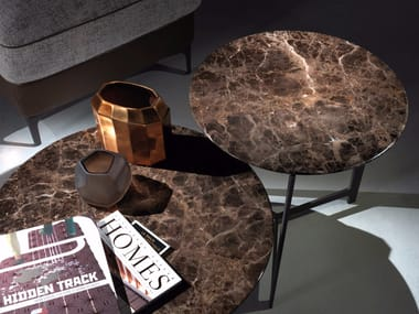 Tavolino da caffè rotondo in marmo B160-161   Tavolino rotondo