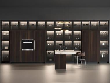 Wooden kitchen with peninsula BT45 G+
