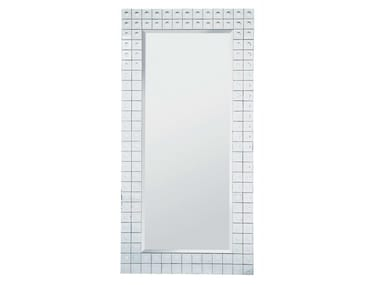 Rectangular wall-mounted framed mirror BUBBLE 156X78