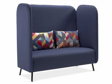 Sofá de tecido com encosto alto BUBBLE LOUNGE DOUBLE