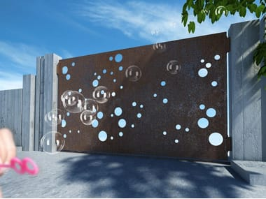 Sliding iron gate BUBBLES 2666