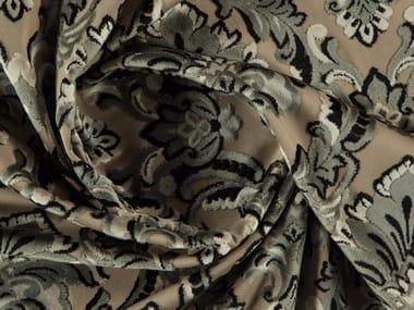 Damask washable velvet fabric BUCKINGHAM