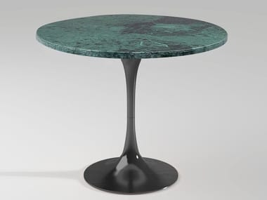 Round Green Guatemala marble high side table BUENOS AIRES | Marble coffee table