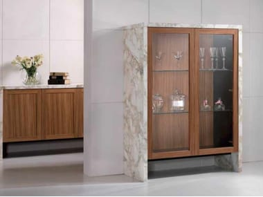 Wood and Calacatta marble display cabinet BUFFET | Display cabinet