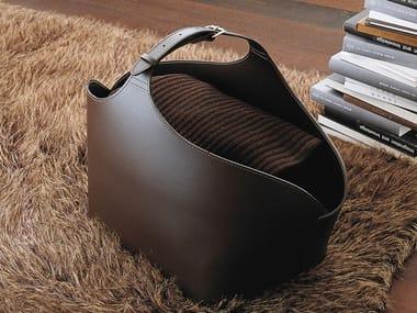 Eco-leather magazine rack / Log holder BUGS