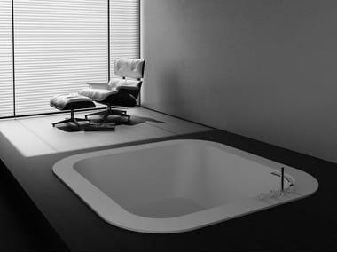 Vasca da bagno quadrata da incasso ALFA FUSION   Vasca da bagno da incasso