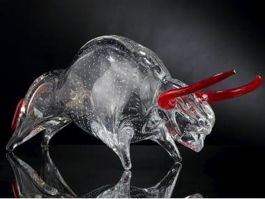 Glass decorative object BULL
