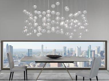 Lampada a sospensione a LED in vetro borosilicato BULLES | Lampada a sospensione