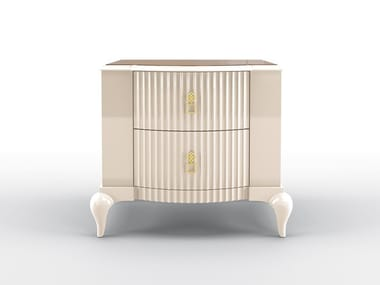 Lacquered rectangular bedside table with drawers BUSTER | Bedside table