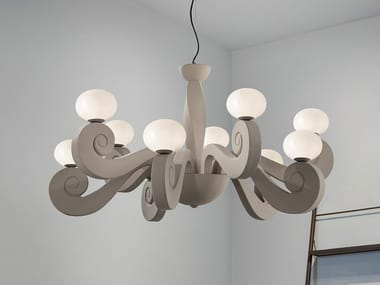Expanded polyurethane chandelier BUSTIER S5+5
