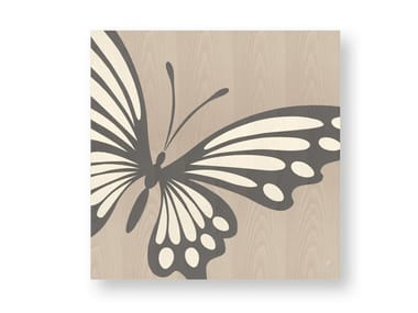 Decorative panel made of inlayed wood BUTTERFLY COLD