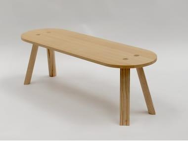 Tavolino di servizio ovale BUZZIMILK TABLE | Tavolino ovale