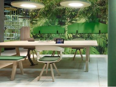 Tavolo da riunione rettangolare in legno BuzziPicNic WorkBench