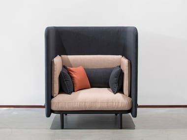 High-back fabric armchair BUZZISPARK | Armchair