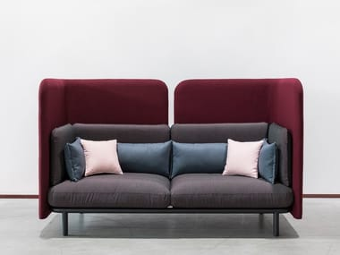 2 seater high-back fabric sofa BUZZISPARK | Sofa