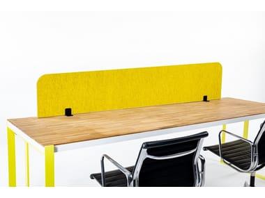 Sound absorbing mobile Recycled PET desktop partition BuzziTripl Desk