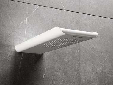 Wall-mounted overhead shower BYBLOS S