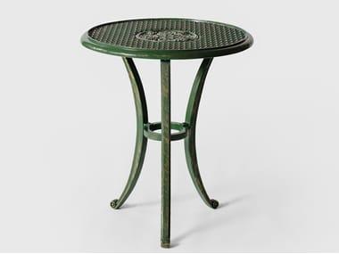 Tavolo da giardino rotondo in alluminio BYZANTIUM | Tavolo da giardino