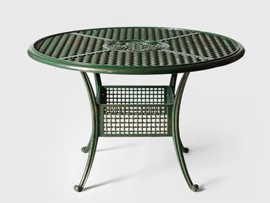 Tavolo da giardino rotondo in alluminio BYZANTIUM | Tavolo