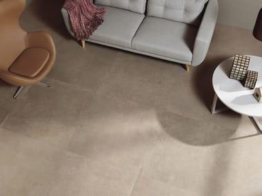 Pavimento/rivestimento in gres porcellanato a tutta massa effetto cemento C_MINE GB