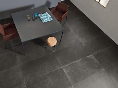 Pavimento/rivestimento in gres porcellanato a tutta massa effetto cemento C_MINE N