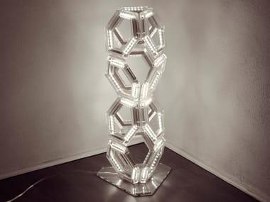 Lampada da terra a LED in PMMA C12 | Lampada da terra