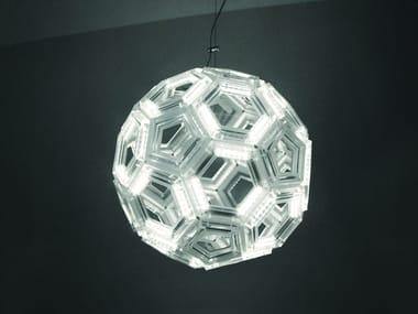 Lampada a sospensione a LED in PMMA C60 | Lampada a sospensione