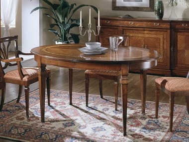 Extending oval dining table CA' DOLFIN | Oval table
