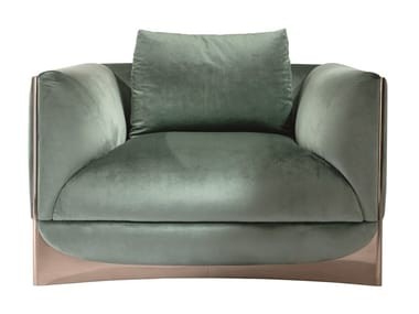 Fabric armchair with armrests CÀ FOSCARI | Armchair