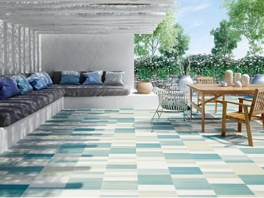 Porcelain flooring with concrete effect CABANA